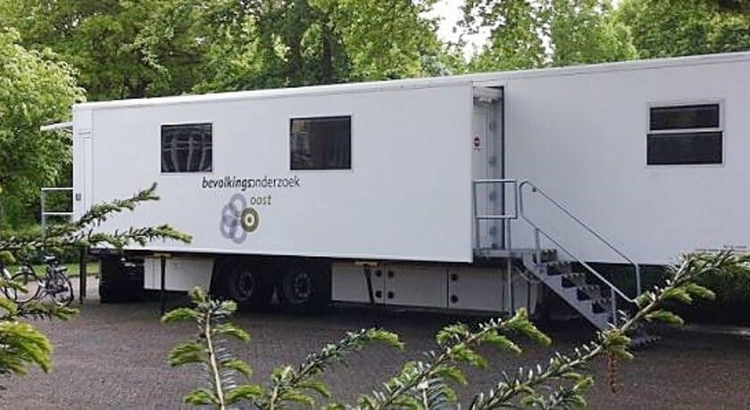 <p>De unit voor het borstkankeronderzoek die vanaf 28 oktober staat op de parkeerplaats aan de achterzijde van sportcentrum Triominos.</p>