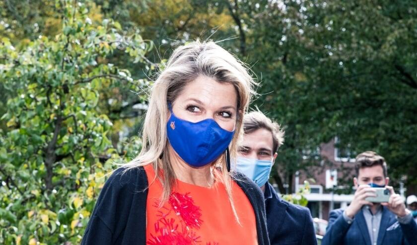 <p>Koningin M&aacute;xima op bezoek bij Lister in Hoograven. Foto: Elizabeth Wattimena</p>