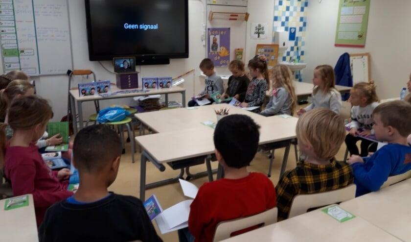 groep 3 geniet van een digitaal verhaal