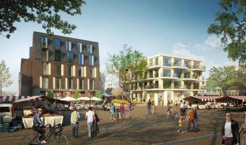 <p>Impressie van het vernieuwde Wijchense centrum.</p>