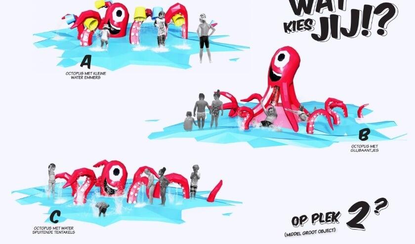 <p>Enkele voorbeelden van speeltoestellen waaruit mensen kunnen kiezen</p>