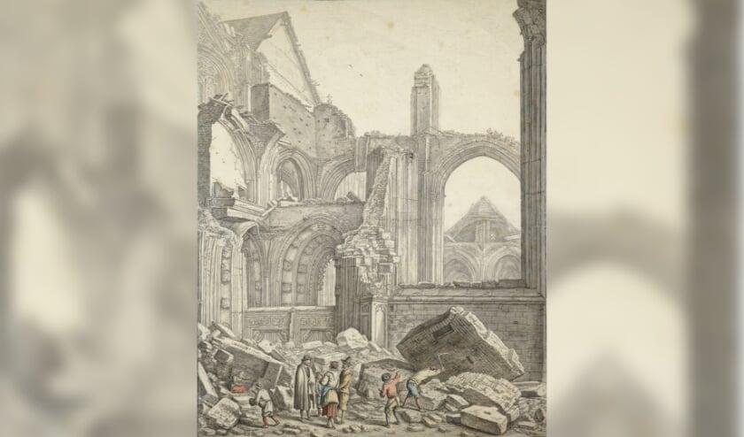 <p>&nbsp;Iedereen kent het verhaal dat het middenschip van de Utrechtse Dom door de storm werd verwoest. </p>