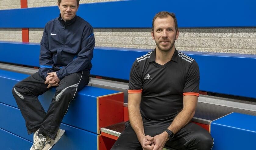 <p>Wout Schouten met links zijn collega Robin Diepenhorst. (Foto: Wijntjes Fotografie)</p>