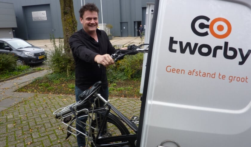 <p>Bob van den Berg van Tworby: 'Doel is om mensen zo lang mogelijk op de fiets te houden.'</p>