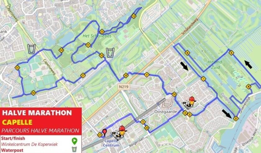 <p>Parcours Halve Marathon Capelle</p>