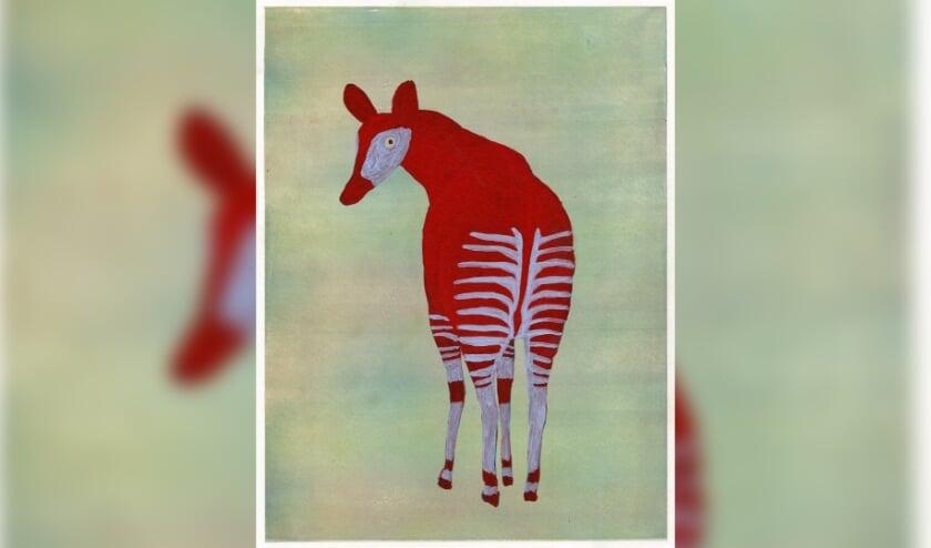 <p>De originele illustraties voor Stem op de okapi is momenteel te zien in het museum.</p>