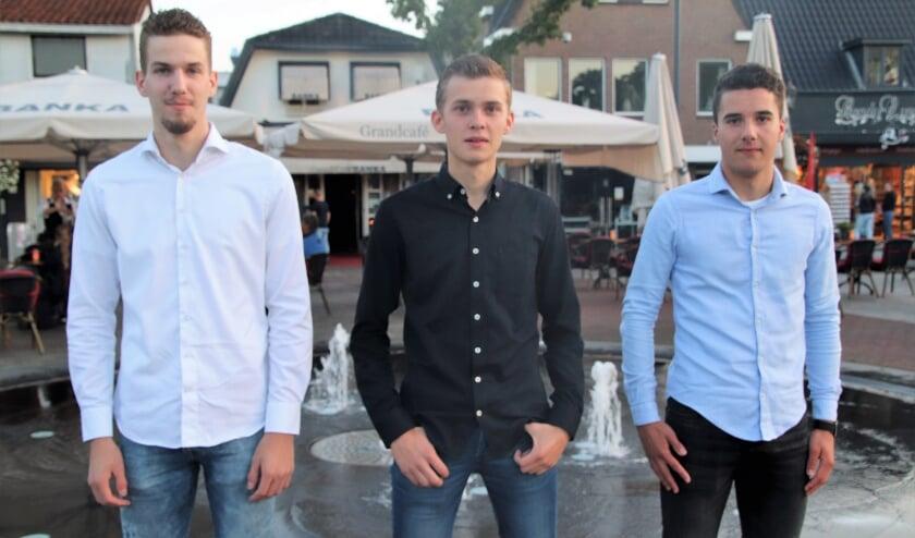 <p>Jelmer Meinema, Frederik Westerbroek en Martijn van Koeveringen zijn leden van het bestuur van de SGP-Jongeren.</p>