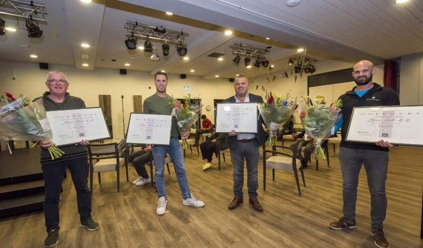 <p>V.l.n.r. Toon Hendriks, Tom van Kuijk, Patrick van der Heijden en Twan Krekels Foto: Jean Pierre Reijnen.</p>