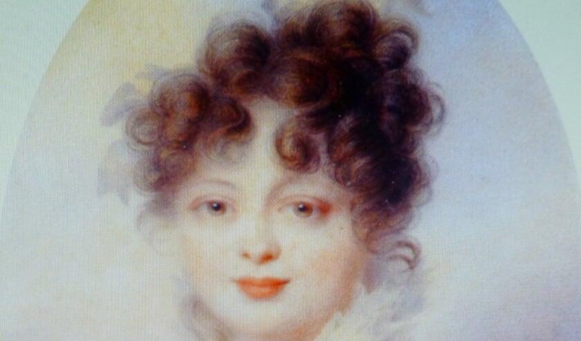 <p>Grootvorstin Catharina van Rusland geschilderd door Jean-Baptiste Isabey.</p>