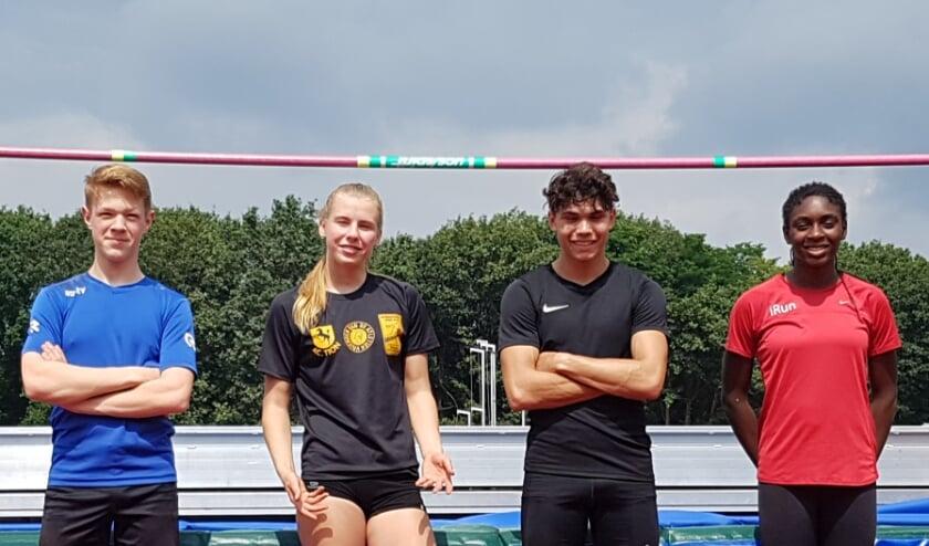 <p>Vlnr: Jory Davids, Marleen Baas, Jermaine Kleine en Ruby Jansen. (Foto: Raymond Kleine)</p>