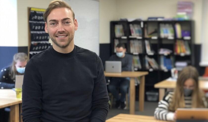 """Jeffrey Diemel, locatiedirecteur HIP Bilthoven: """"Alle kinderen hebben ook in dit coronatijdperk recht op goed onderwijs."""" (foto HIP)"""