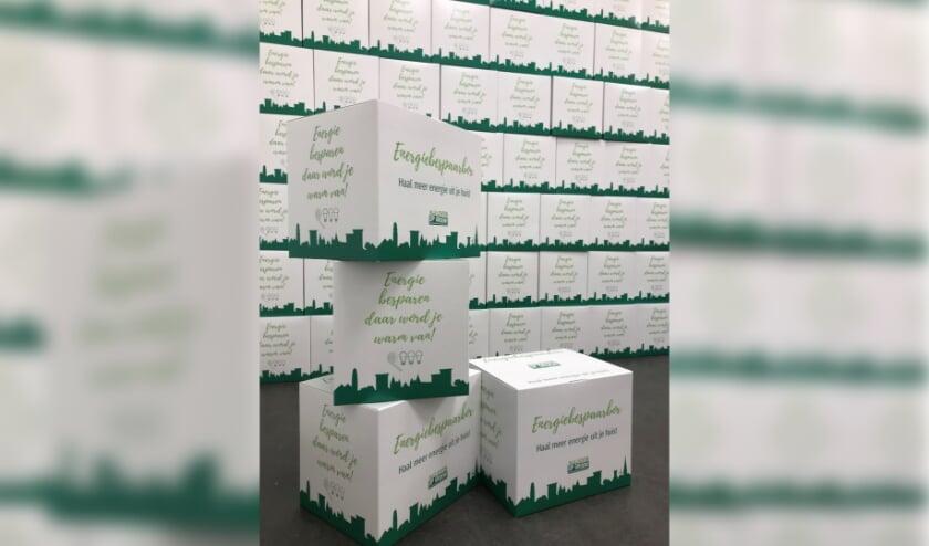 <p>De energiebespaarboxen staan klaar voor inwoners die een gratis energieadvies aanvragen voor hun eigen woning&nbsp;</p>