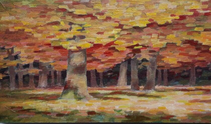 Herfst schilderij van Peter Britsia
