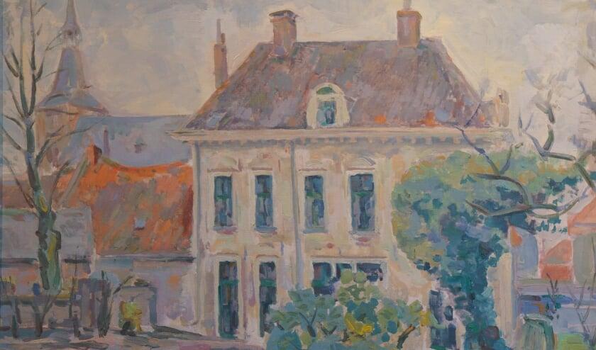 <p>&lsquo;Het hoge huis te Hattem&rsquo;, geschilderd door Gerhard Mensink.&nbsp;</p>