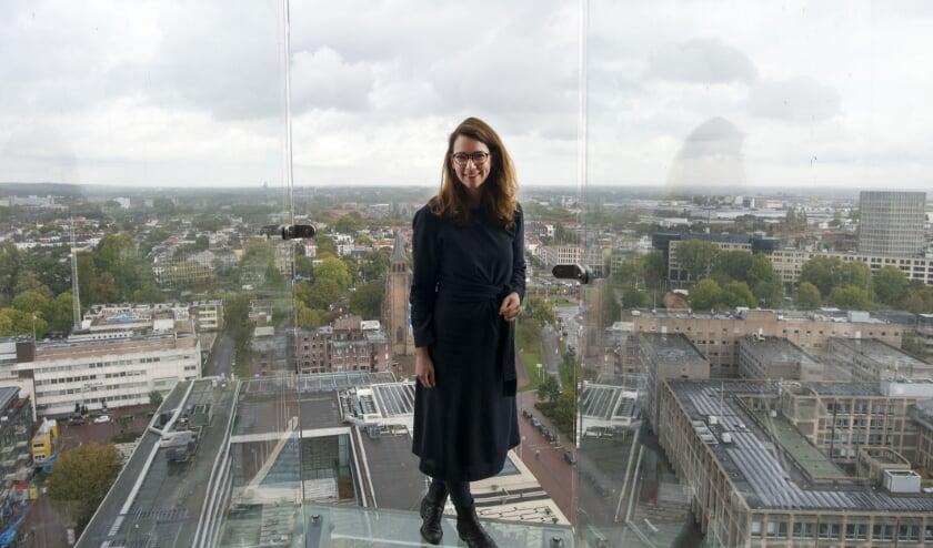 De Eusebiuskerk biedt een prachtig uitzicht op Arnhem, de stad waar Meike Verhagen zo trots op is. (foto: Ellen Koelewijn)