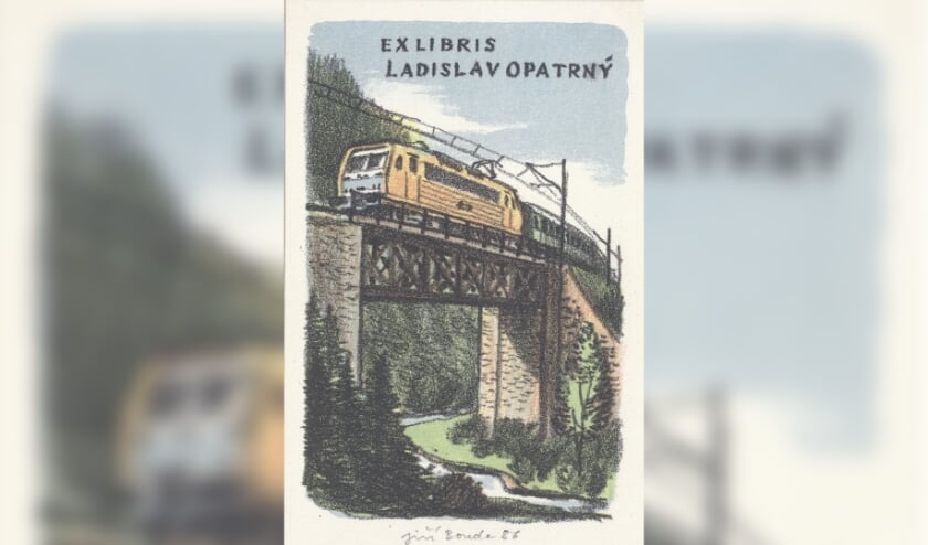 Exlibres met trein