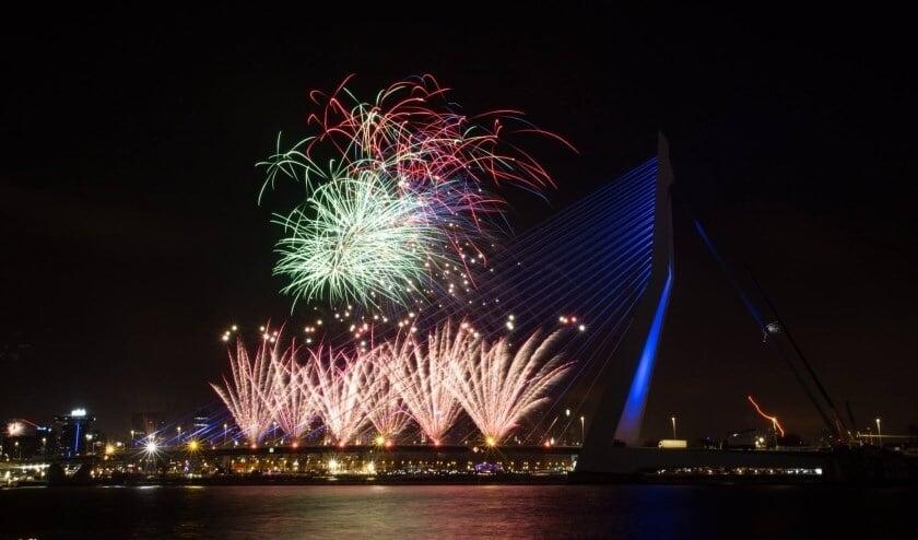 Helaas, dit jaar geen vuurwerk bij de Erasmusbrug.