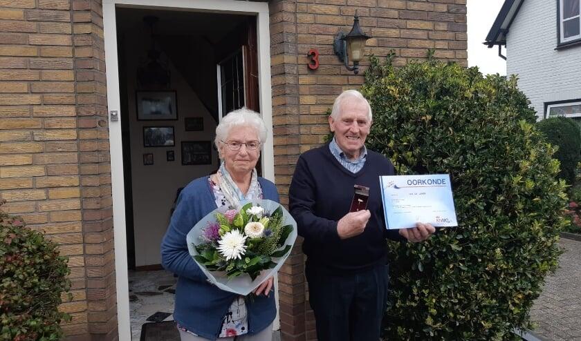 <p>Jan de Lange werd in 1950 lid van fanfare St. Joseph. Hij is dit jaar dus zeventig jaar lid. (foto&#39;s: PR)</p>
