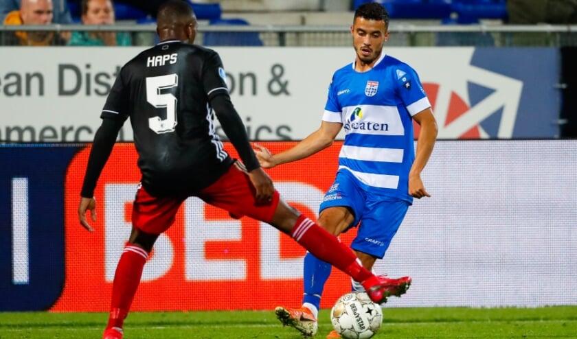 <p>Mustafa Saymak in actie in de openingswedstrijd van dit seizoen tegen Feyenoord. Foto: Henry Dijkman.</p>