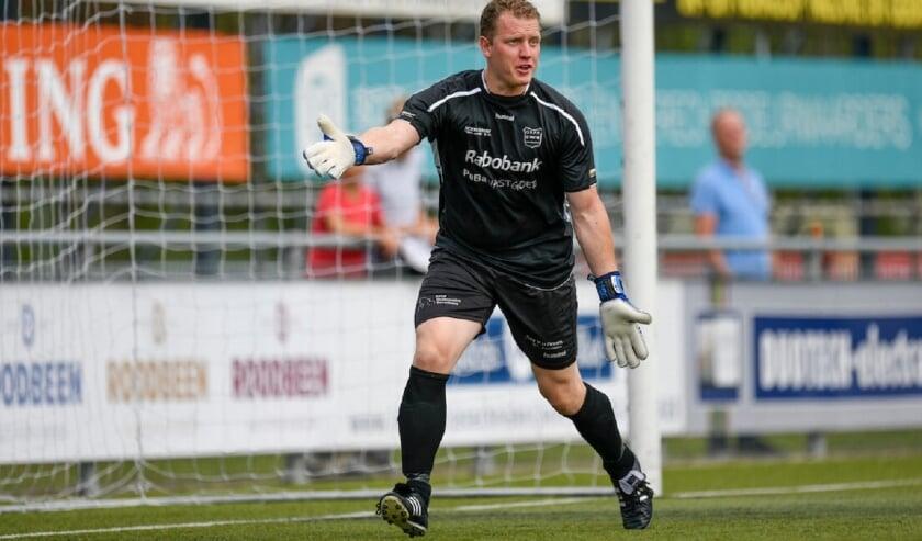 <p>Johan Jansen verdedigde 300x het doel van G.V.V.V.</p>