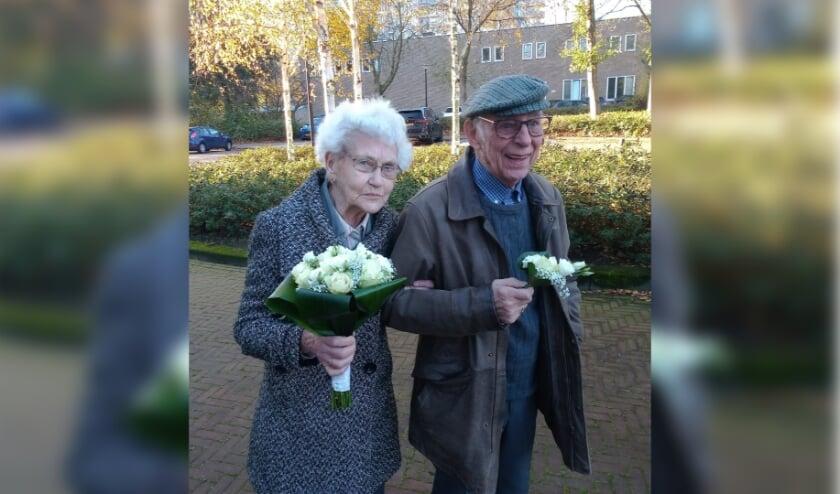 <p>Het echtpaar Rijn-Wubben op hun 65e huwelijksdag.</p>