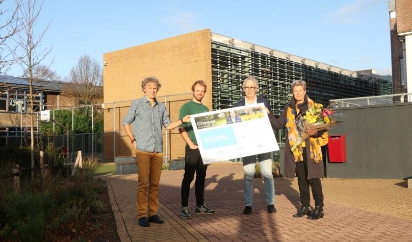 Stichting Leergeld ontvangt een cheque van de SSgN
