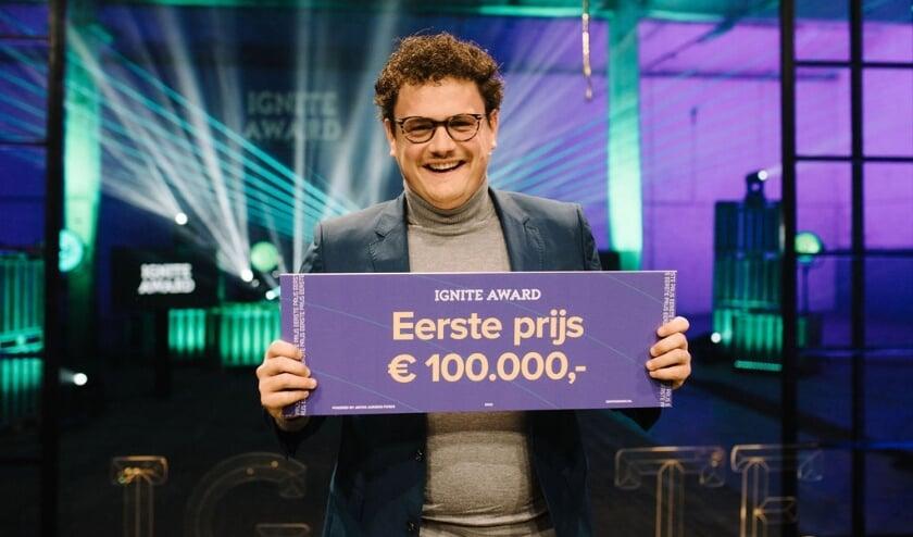 <p>De winnaar van de IGNITE Award 2020; Bob van den Berg, oprichter van Tworby.&nbsp;</p>