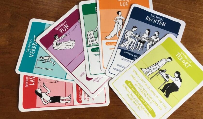 <p>Een kwartetspel maakt onderdeel uit van het lespakket.</p>