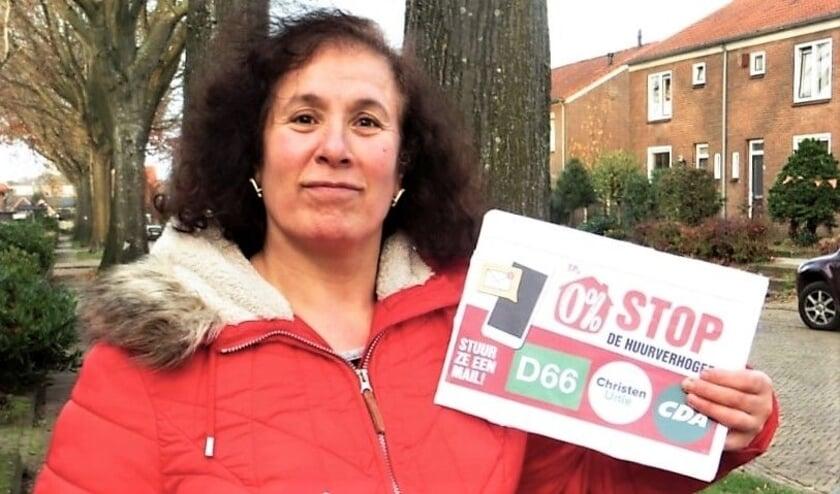 <p>Rhenense SP&#39;er Rabia Bayma roept op: &quot;Stop de huurverhogers!&quot;</p>