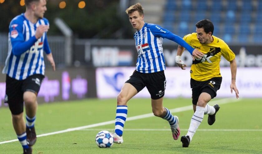 <p>In een aantrekkelijk duel met NAC Breda wist FC Eindhoven twee keer te scoren. Het bleek niet voldoende te zijn. (Foto: Johan Manders).</p>