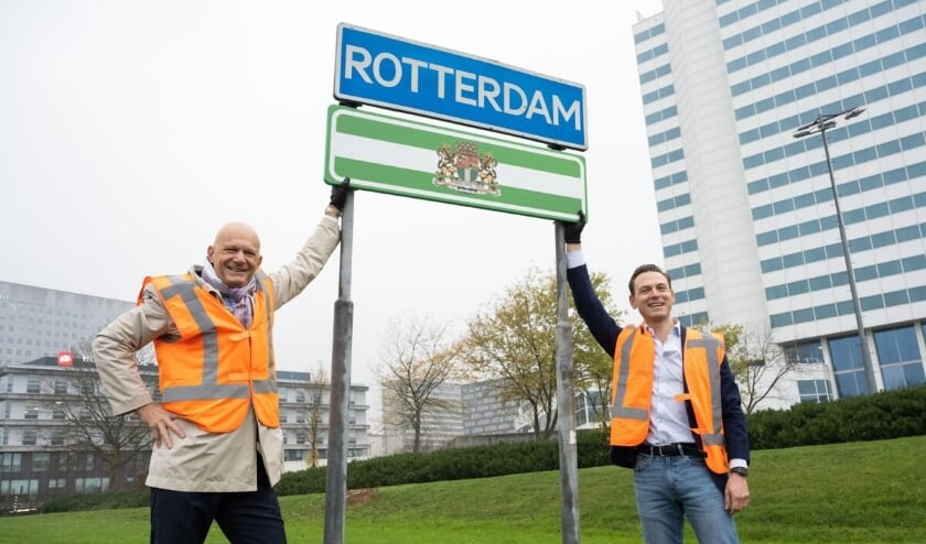 Links Bert Wijbenga, rechts Tim Versnel en midden Rotterdam.