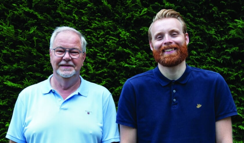 <p>Bernard Wolters en Mike van der Neut uit Heerjansdam hebben samen een boek geschreven. (Foto: pr)</p>