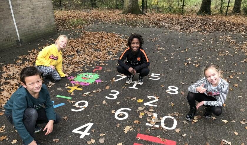 Een rekenmachine op het schoolplein!
