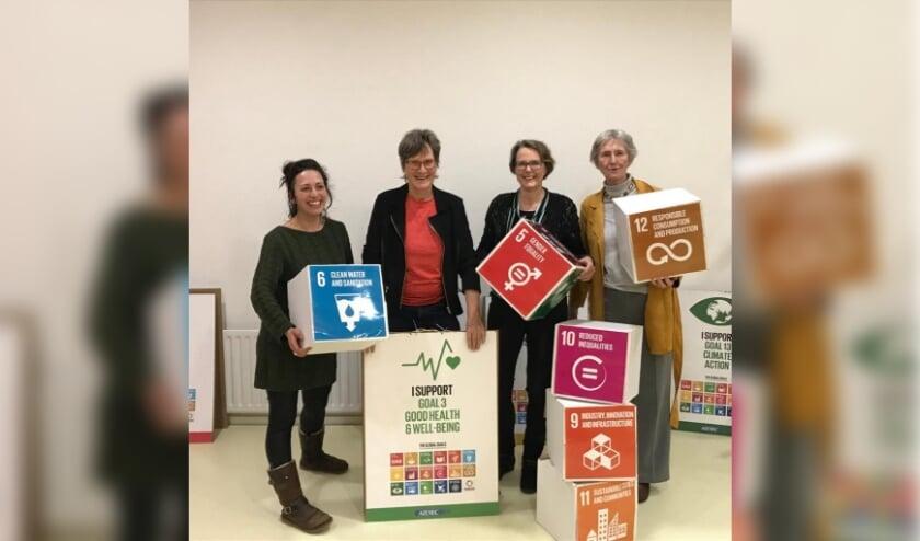 <p>Een deel van de initiatiefgroep &ndash; vlak voor de corona lockdown Patricia Lemmens, Pauline Schakenbos, Marjan Vrins en Jelleke de Nooy-van Tol.</p>