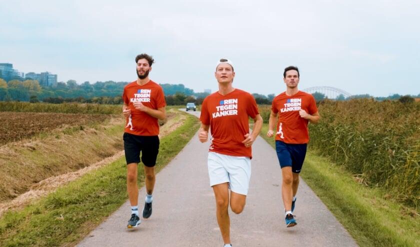 Van links naar rechts; Sjoerd, Lennart, Bram