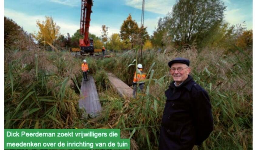 Dick Peerdeman, voorzitter van Stichting Arboretum Hoogvliet. foto: PR Gemeente