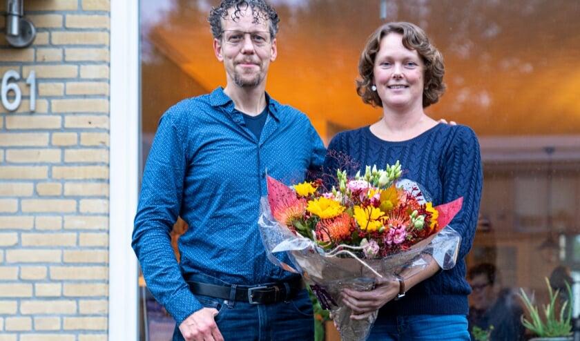 <p>Het eerste aardgasvrije huis in de Wijk van de Toekomst staat in de Spechtstraat, eigenaren zijn Peter en Nathanja Adam. (foto: Jan de Roo)</p>
