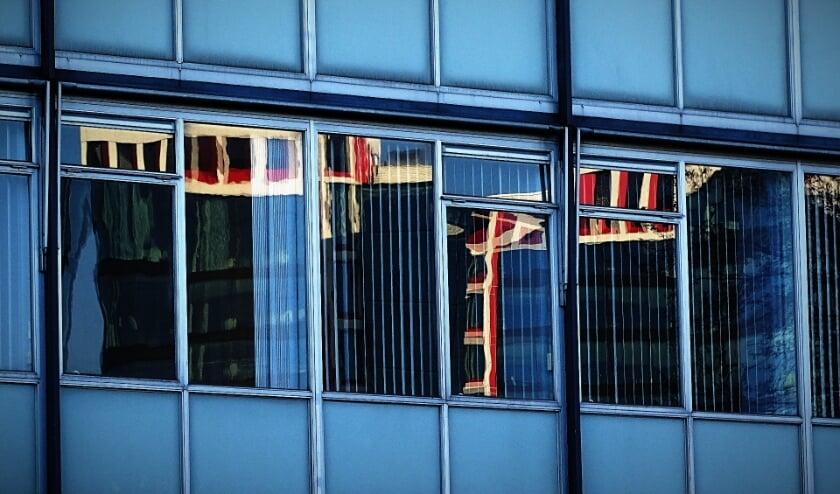 <p>De winnende foto van Lara Otte van het stadhuis.&nbsp;</p>