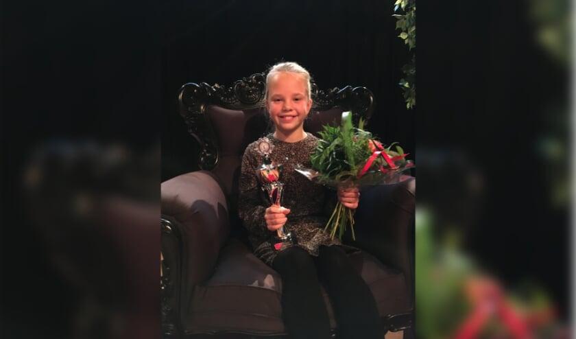 <p>Eva Gerritsen Voorleeskampioen van Scherpenzeel 2020.</p>