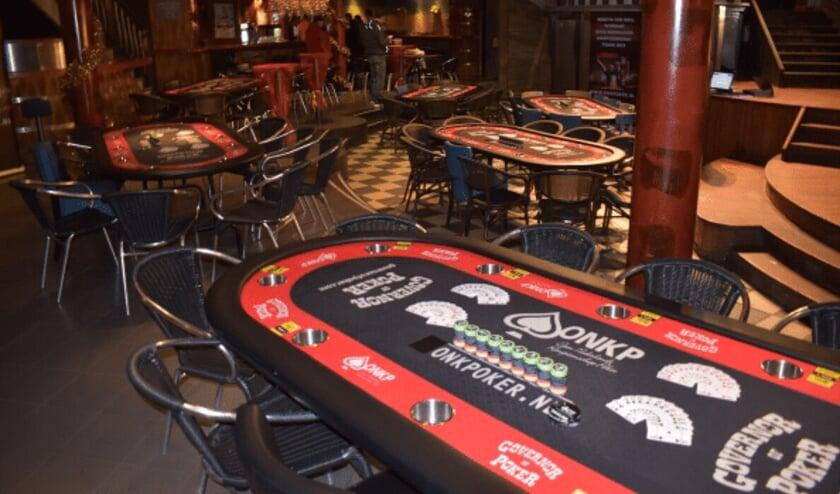 Voorronde locatie omgetoverd tot pokerroom tijdens een vorige editie.