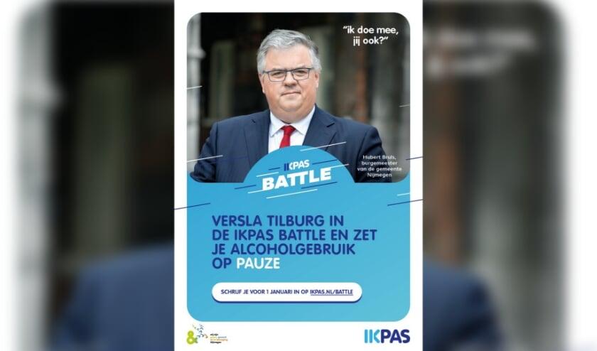 <p>poster IkPas Battle met Hubert Bruls </p>