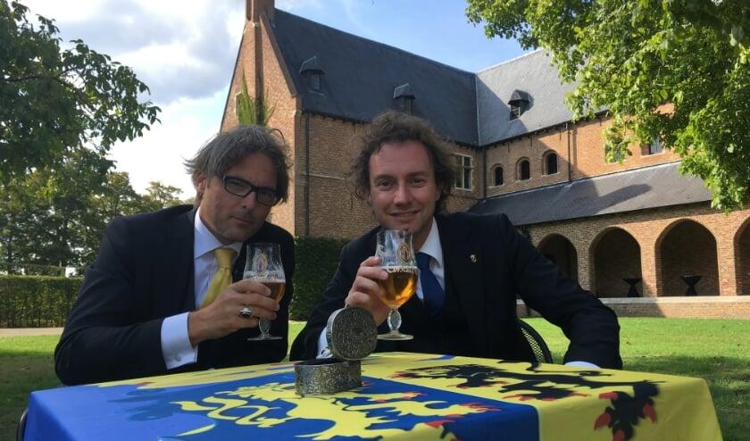 <p>Ridders Bas Steman en Ren&eacute; Arendsen.</p>