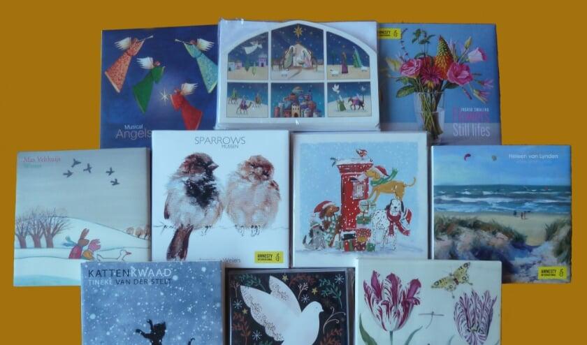<p>Koop bij Van der Hoeven Natuurmarkt zo&#39;n kaart en steun Amnesty International. Foto: Amnesty</p>