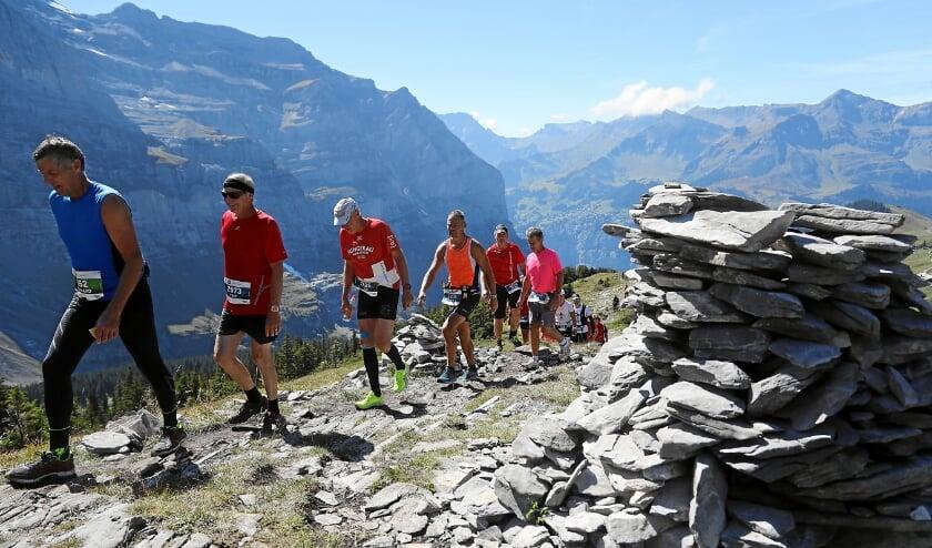 <p>Impressie van de 26ste Jungfrau marathon in Interlaken (Zwitserland) in 2018&nbsp;</p>