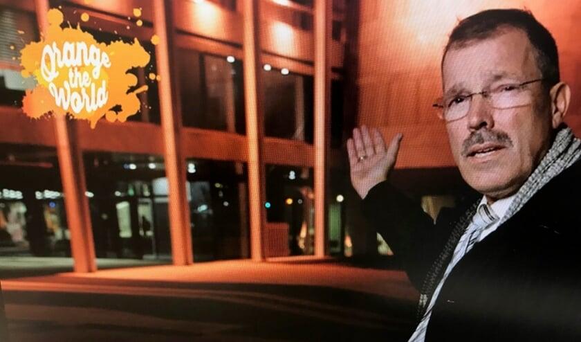 <p>Leefbaarheidsgedeputeerde Peter van &#39;t Hoog ondersteunt oranje-verlichtingsactie Orange the World.</p>