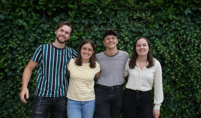 De vier studenten van de start-up Fitit op een rij.