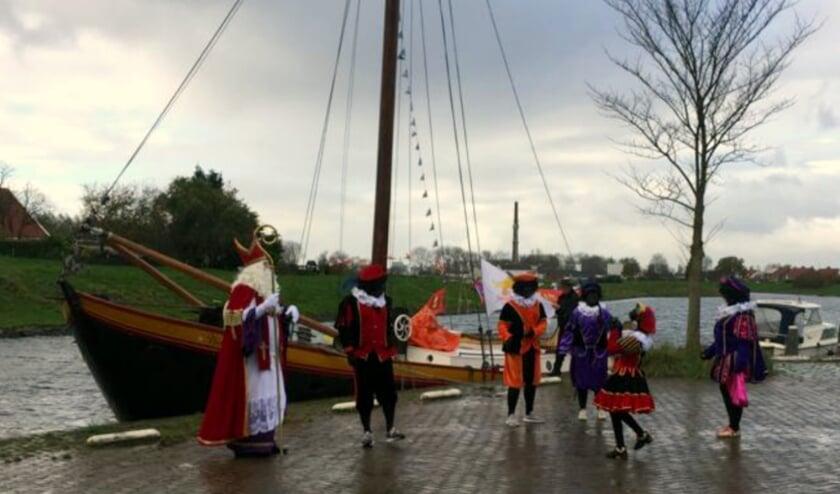 Dit jaar is alles anders, ook de intocht van Sinterklaas in Arnemuiden. FOTO: KLAAS VAN DE KETTERIJ