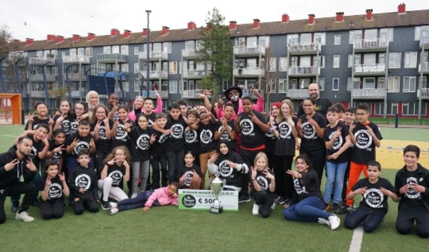 <p>De winnaars van de Haagse Shuffle Challenge.</p>
