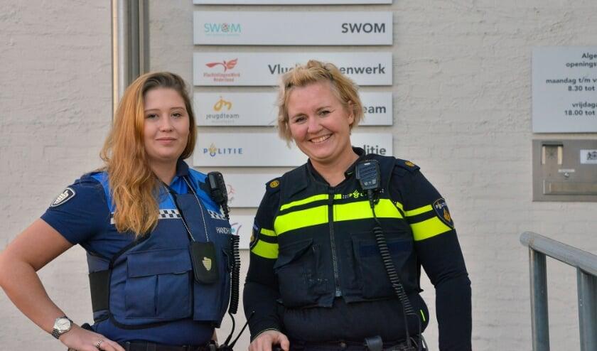 <p>BOA Channa en wijkagent Elin hebben in hun werk binnen de gemeente Montfoort/Linschoten veel raakvlakken. Foto: Paul van den Dungen</p>