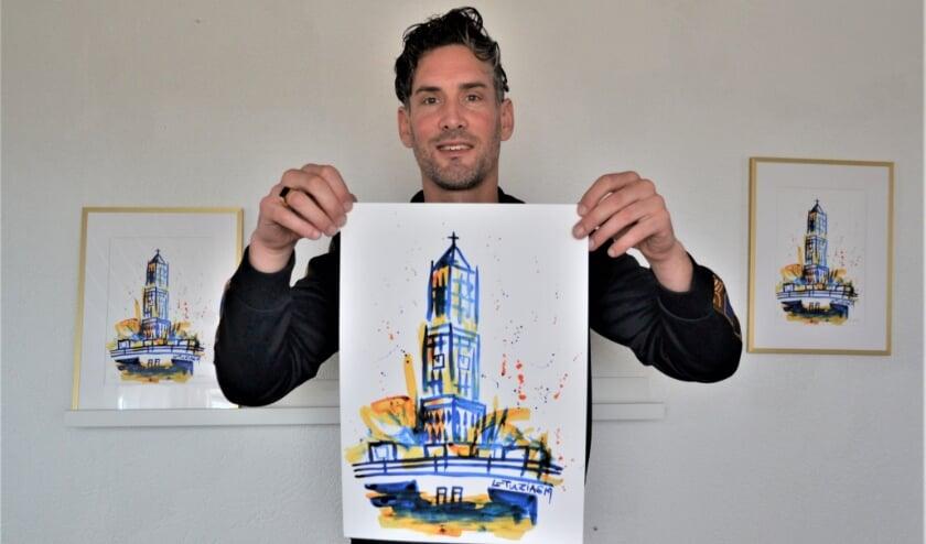 <p>De kunstenaar laat zich graag inspireren door het stadse leven en beperkt zich hierin niet tot Utrecht. Foto: L-Tuziasm</p>
